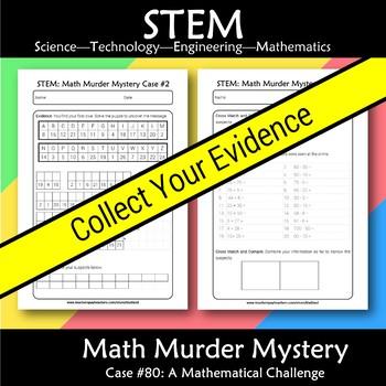 STEM Math Murder Mystery Case#80 A Math Challenge