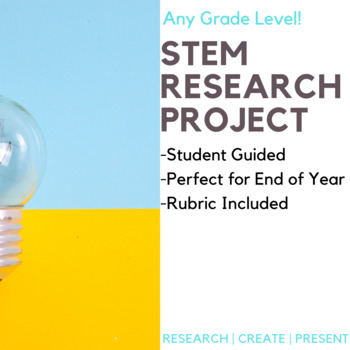 STEM Math Research Project-- End of Year PBL