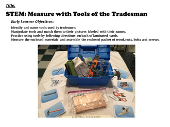 STEM Careers: Measure with Tools of the Tradesmen