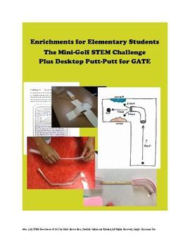 STEM Mini Golf Enrichment - Upper Elementary + MS Whole Class + GATE Bonus