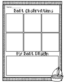 STEM Money Coin Foil Boat Lesson Plan and Recording Sheet (STREAMS)