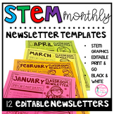 STEM Monthly Newsletter Templates