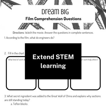 STEM Movie Worksheet - Growing Bundle (save $$$)