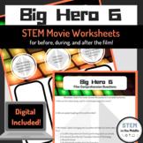 STEM Movie Worksheets - Big Hero 6 (2014)