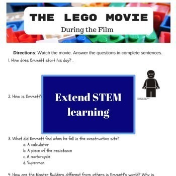 STEM Movie Worksheets - Bundle (Buy 3, Get 1 FREE)