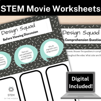 PBS Kids Design Squad Movie Worksheet By STEM In The Middle