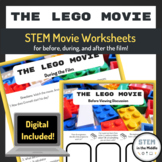STEM Movie Worksheets - The Lego Movie (2014)