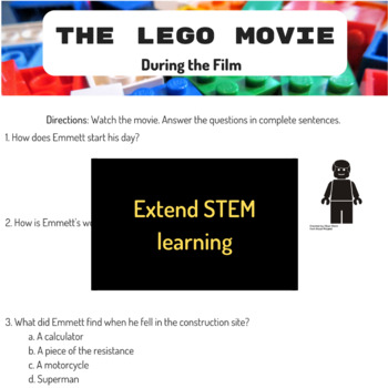 STEM Movie Worksheets - The Lego Movie (2014)