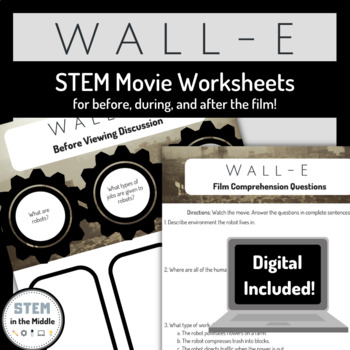 STEM Movie Worksheets - WALL-E (2008)