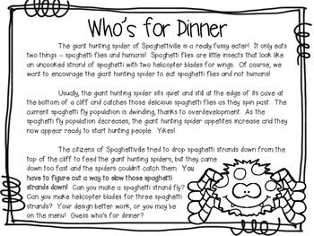 Stories & STEM ~ Who's for Dinner?  ~ 3 STEM Challenges using Flight