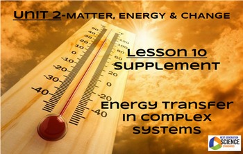 STEM/NGSS Lesson 10 HW Supplement: Energy Transfer in Complex Systems