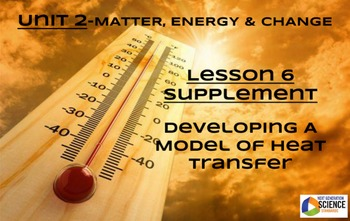 STEM/NGSS Lesson 6 HW: Developing A Model of Heat Transfer