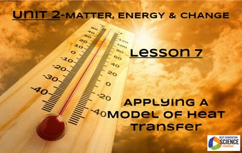 STEM/NGSS Lesson 7 Applying A Model of Heat Transfer
