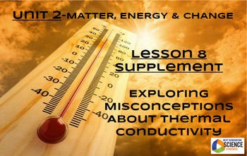 STEM/NGSS Lesson 8 Supplement: Misconceptions about Thermal Conductivity