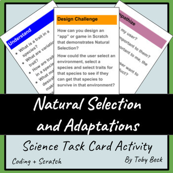 STEM - Natural Selection and Adaptations, Design Cycle, Scratch