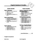 STEM Notebook Grading Checksheet  for English Classroom