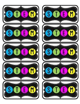 STEM Notebook Labels