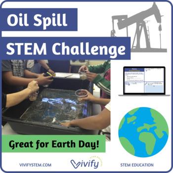 STEM Oil Spill Challenge / Earth Day Activity (Volume & Measurement)