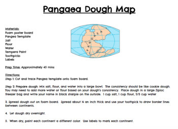 STEM Pangaea Dough Map!