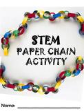 BACK TO SCHOOL STEM ACTIVITY:  Paper Chain Math Challenge