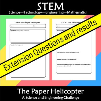 STEM Paper Helicopter: A Science and Engineering Challenge