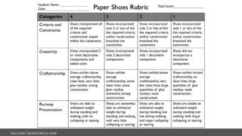STEM Paper Shoes Project