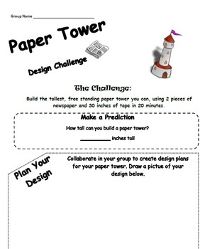 STEM: Paper Tower Design Challenge
