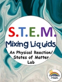STEM Physical Reaction and States of Matter Inquiry Lab - NGSS Aligned
