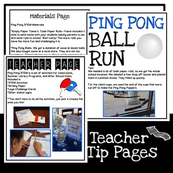STEM Ping Pong Challenges