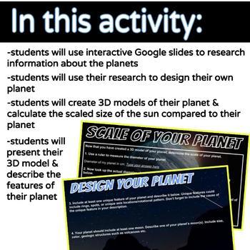 STEM Planet Project & Interactive Google Slides MS-ESS1-3