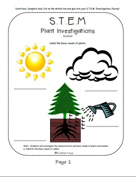 S.T.E.M. Plants Lesson for Science -GPS