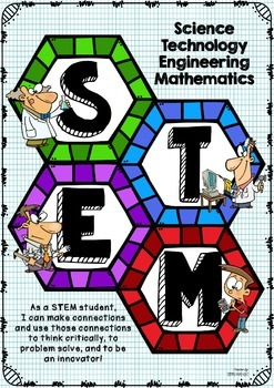 STEM Poster - Hexagon Pattern