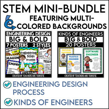STEM Poster Mini Bundle Big and Bold Version