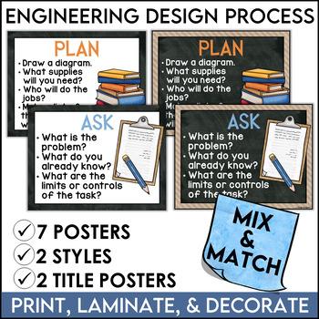 STEM Poster Mini Bundle in Burlap and Chalkboard