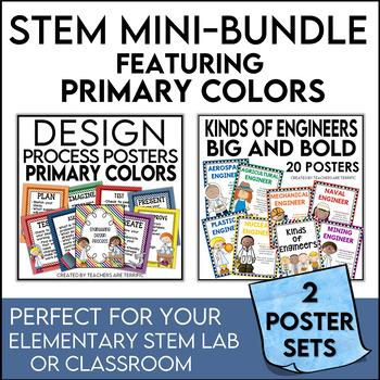 STEM Poster Mini Bundle in Primary Colors