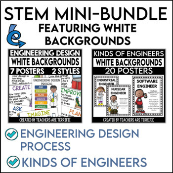 STEM Poster Mini Bundle with White Backgrounds