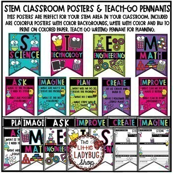 STEM Posters: Back to School Bulletin Board, STEM Writing Activity
