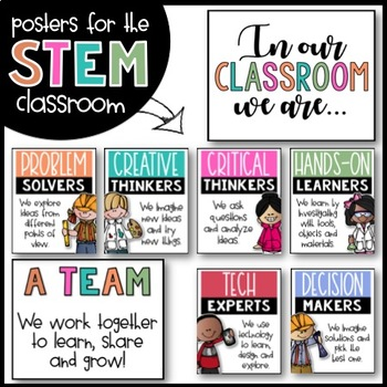 STEM Posters for Elementary Classrooms