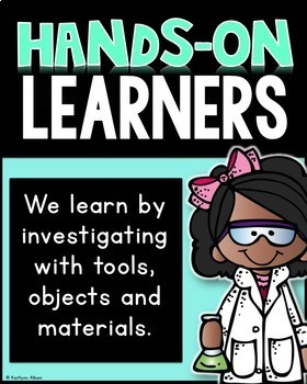 STEM Posters for Elementary Classrooms [Black and Bright]