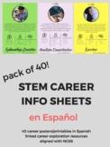 STEM Posters pack of 40 - SPANISH career information sheet