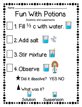 STEM Potion Chemistry Lesson