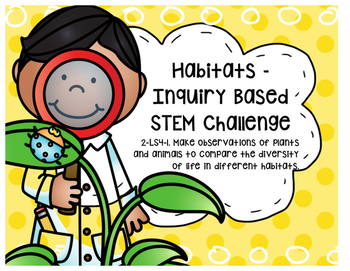 STEM - Problem Based Learning - Habitats 2-LS4-1 2nd Grade -SMART Teaching