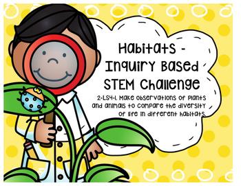 STEM - Problem Based Learning - Habitats 2-LS4-1 2nd Grade -SMART Teaching NGSS