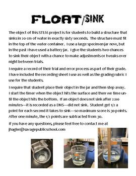 STEM Problem: Float/Sink