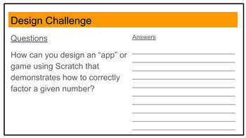 STEM Project Based Learning: Factor a given number (Scratch)