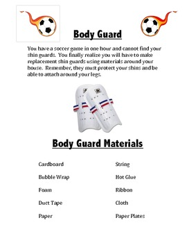 STEM Project Body Guard/Shin Guard Design