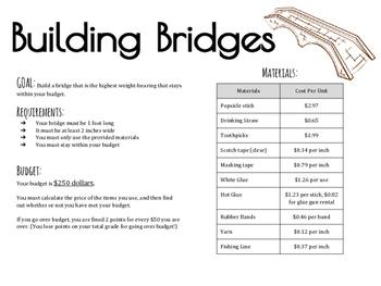STEM Project: Building Bridges Freebie!