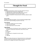 STEM Project - Food for Thought (math and science)