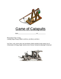 STEM Project, Making a Catapult: Force, Work, Power and Energy