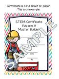 STEM Project Master Builder Certificates